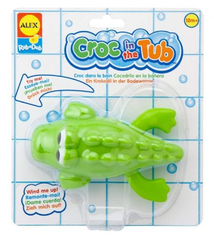 ALEX Bath Toys - Croc In The Tub Swimming Toy